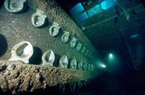 Underwater wreck photography by David Doubilet