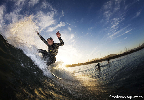 man surfing photograph by Mike Smolowe