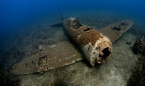 Wreck of P-47D Thunderbolt