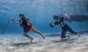 Superheroes, Super Underwater Photo Shoot