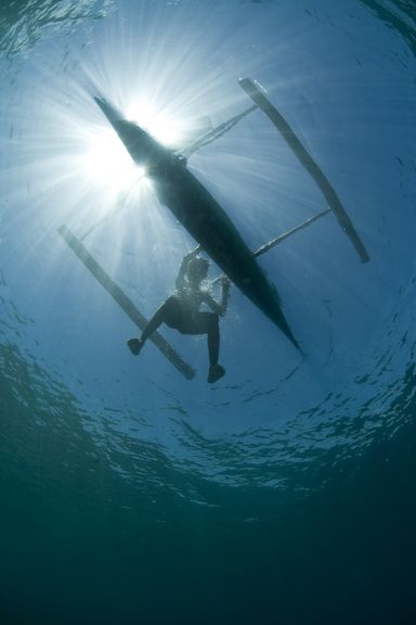 outrigger underwater photography by Ethan Daniels