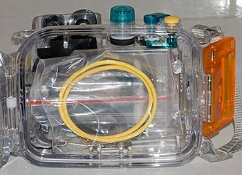 underwater camera o-ring storage