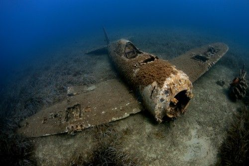 Wreck of P 47D Thunderbolt - By Jim Garland