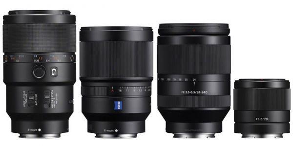 Sony Unveils Four New Full Frame Lenses