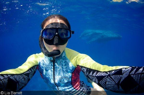 подводная съемка Лиа Барретт