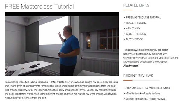 """Review: """"Underwater Photography Masterclass"""" by Alex Mustard"""