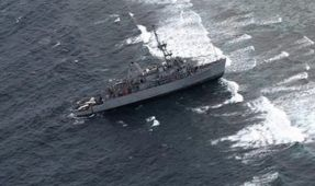 US Minesweeper runs onto Tubbataha Reef