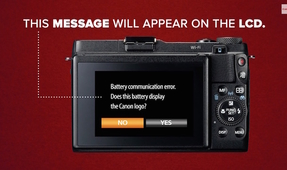 Canon PSA: Beware Third Party Batteries