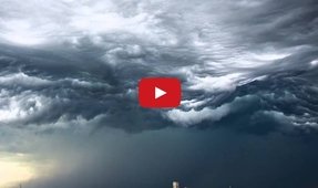 Amazing Time-Lapse of Clouds Rolling Like Ocean Waves