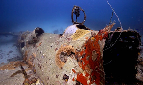 Video: Diving a Truk Lagoon WWII Airplane Wreck