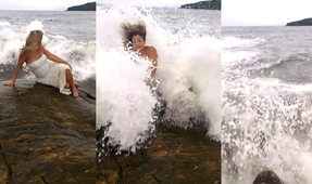 Video: Wave Washes Out Model