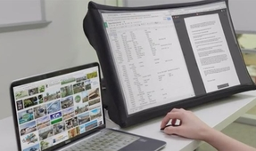 Check Out this Collapsible 24-Inch Monitor