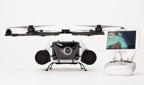 Waterproof Drone Release with DJI Camera