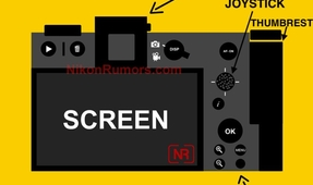 Rear Layout of Upcoming Nikon Mirrorless Camera