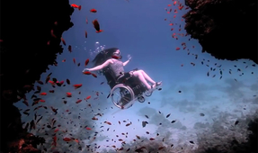 Video: World's First Underwater Wheelchair