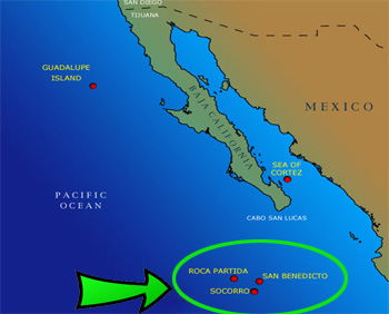 Mexico - the volcanic islands in the Pacific - 3. Revillagigedo ...