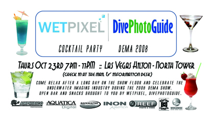 DivePhotoGuide Wetpixel Cocktail Party at DEMA 2008